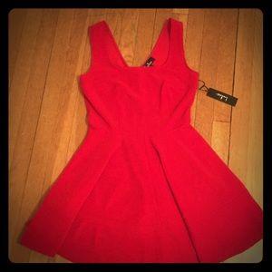 "Lulu's ""Home Before Daylight"" Red Mini Dress"